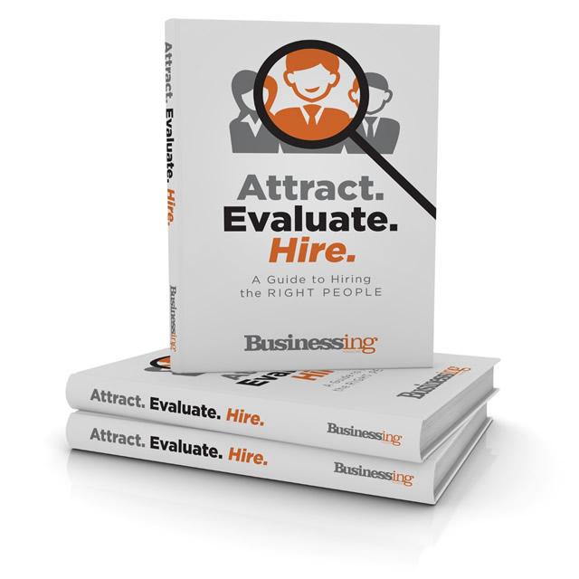 Attract. Evaluate. Hire.- Book Cover