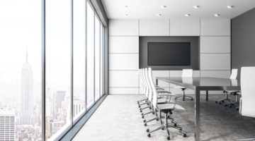 Business Projector Screens vs. TVs